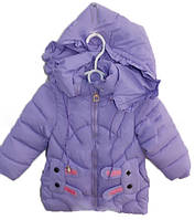 Куртка на девочку демисезонная (3-8 лет) С-20 с зайцами