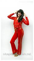 """Спортивный костюм велюровый """"Ангел"""" , красный S M L XL"""