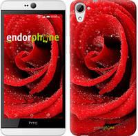 "Чехол на HTC Desire 826 dual sim Красная роза ""529u-312"""