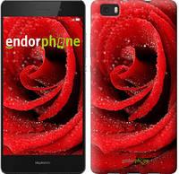 "Чехол на Huawei Ascend P8 Lite Красная роза ""529c-126"""