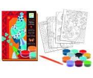 Голубые принцессы, набор для рисования цветным песком DJ08637, Djeco
