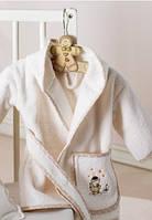 Karaca Home Набор BEBEK В ВАННУЮ BEBE DUCK розовый (12-24 месяца) (халат, Полотенце - уголок, Полотенце для купания)