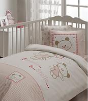 Karaca Home Набор Bebe Stelle розовый хлопок постельное белье, Одеяло, Подушка, защита (7 предметов) постельное белье, одеяло, подушка, защита (7