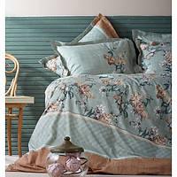 Karaca Home Перкаль Комплект постельного белья LAYLA зеленый Двуспальный комплект наволочка 1шт 50х70(4)