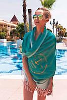 Полотенце пляж Buldans Pestamal Anchor 65 хлопок 35 тенсель 100x180 - 1 шт фиолетовый