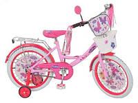 """Велосипед детский 18""""  Мисс Бабочка 2014 белые колеса (Miss Butterfly)."""