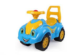 Каталки и качалки «ТехноК» (3510) автомобиль голубой с желтым
