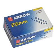 """Скрепка 25 мм. """"Arrow"""" ZH-212 никель(100 шт.)"""