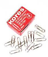 """Скрепка 28 мм. """"Kores"""" 11984-28 никелированная (100 шт.)"""