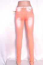 Цветные  женские джинсы со стразами, фото 3