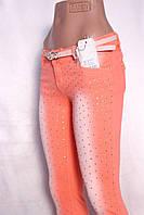 Цветные  женские джинсы со стразами, фото 1