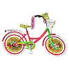 """Велосипед детский 20""""  Мисс Бабочка белые колеса (Miss Butterfly)."""