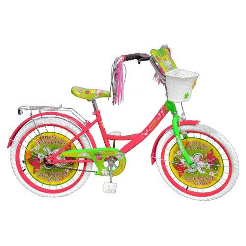 "Велосипед детский  12"" Miss Butterfly, белые колеса."
