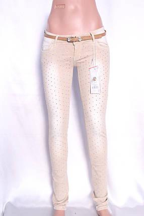 Цветные  женские джинсы, фото 2