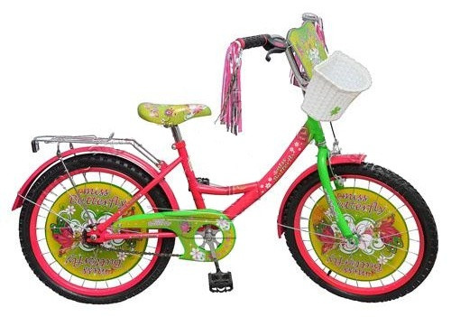 "Велосипед детский 20""  Мисс Бабочка (Miss Butterfly)."