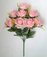 Букет искусственных цветов Роза (имитация натурального бутона) высокая с добавками , 58 см