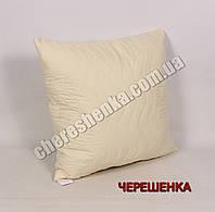 Подушка микрофибра/холлофайбер 70*70 желтая