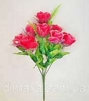 Букет искусственных цветов  Роза с вуалью и добавками , 42 см