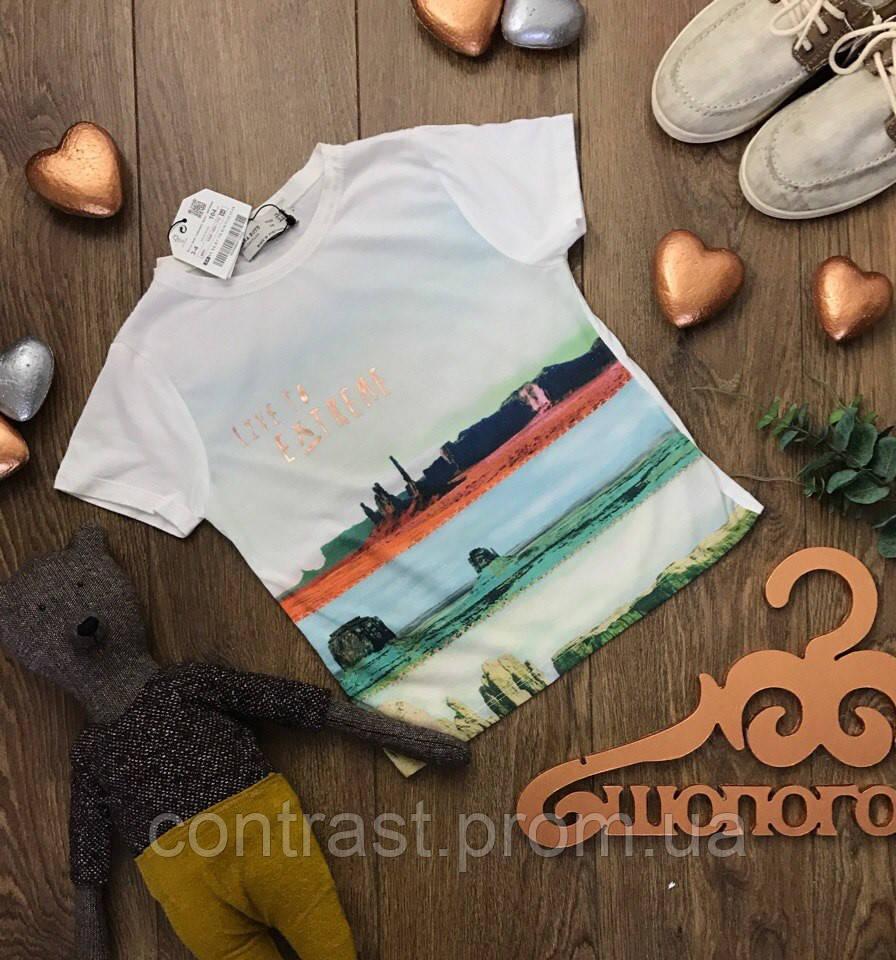 Крутая детская футболка с акварельным принтом   BD0817