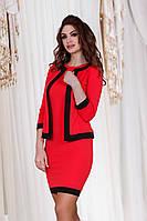 Д788/2 Платье с жакетом размеры 42-48 Красный