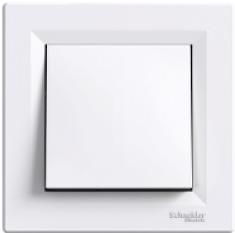 Schneider Asfora Выключатель 1-клавишный белый