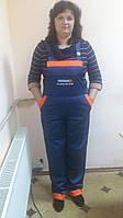 Летний рабочий полукомбинезон, рабочая одежда