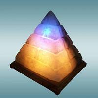 Солевая лампа, светильник Пирамида египетская 5-6 кг.