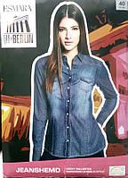 Очень классная синяя женская джинсовая рубашка от Esmara размер 40