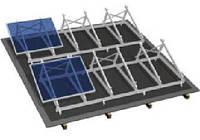 Комплект на плоскую крышу на 4 модуля, фото 1