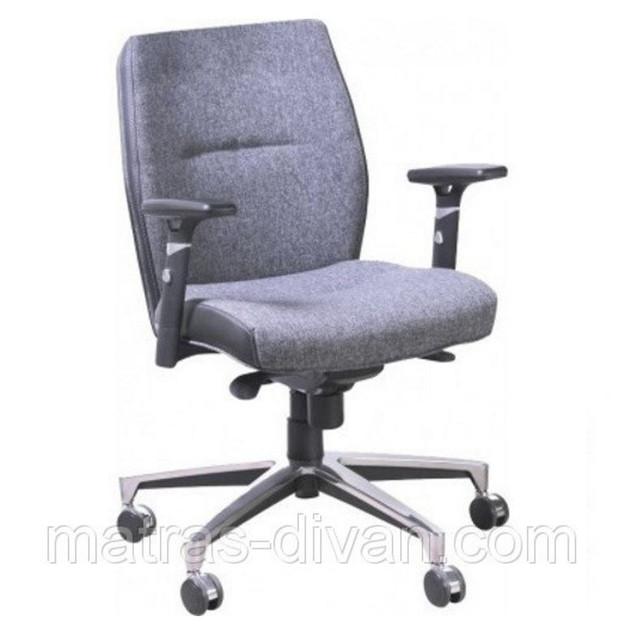 Кресло Элеганс LB  Пайпермун (Papermoon)-031 серый, боковины задник Неаполь-20 черный