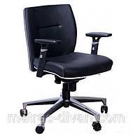 Кресло Элеганс LB Неаполь-20 чёрный, кант Неаполь-50 белый