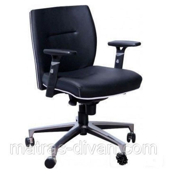 Кресло Элеганс LB Неаполь-20 чёрный, кант Неаполь-50 белый - Матрас Диван - мебельный интернет магазин в Киеве