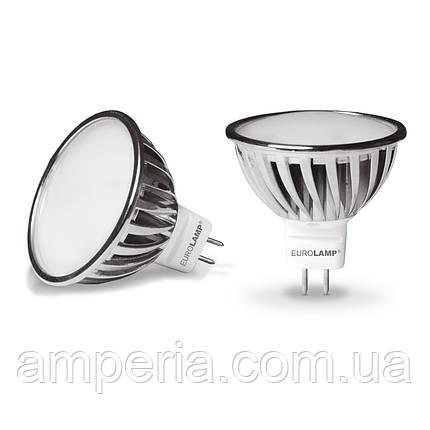 EUROLAMP LED Лампа Chrome MR16 6.5W GU5.3 3000K (LED-SMD-6,5533), фото 2