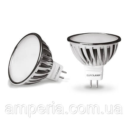 LED Лампа EUROLAMP Chrome MR16 6.5 W GU5.3 4000K (LED-SMD-6,5534), фото 2
