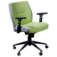Кресло Элеганс LB Synchro Неаполь-34 (салатовый) боковины задник Неаполь-23 (серый)