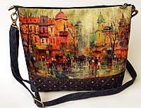 Женская стеганная сумочка Город пастель 2