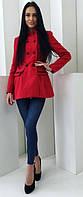 Модное женское пальто шинель приталенного фасона на пуговицах кашемир подкладка
