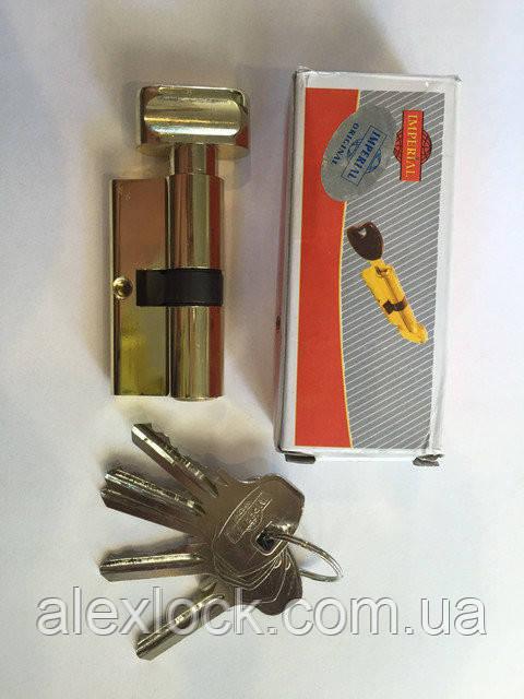Цинковий секрет з англійським ключем ( Normal key)ZNK 60 30/30 PB ключ/поворотник