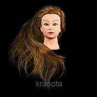 Учебная голова для парикмахера 30% натуральных волос, длина 75 см