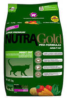 Nutra Gold Hairball Adult Cat (Хаербол) корм для кішок для виведення грудочок вовни, 5 кг, фото 1