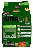 Nutra Gold Hairball Adult Cat (Хаербол) корм для кошек для выведения комочков шерсти, 5 кг