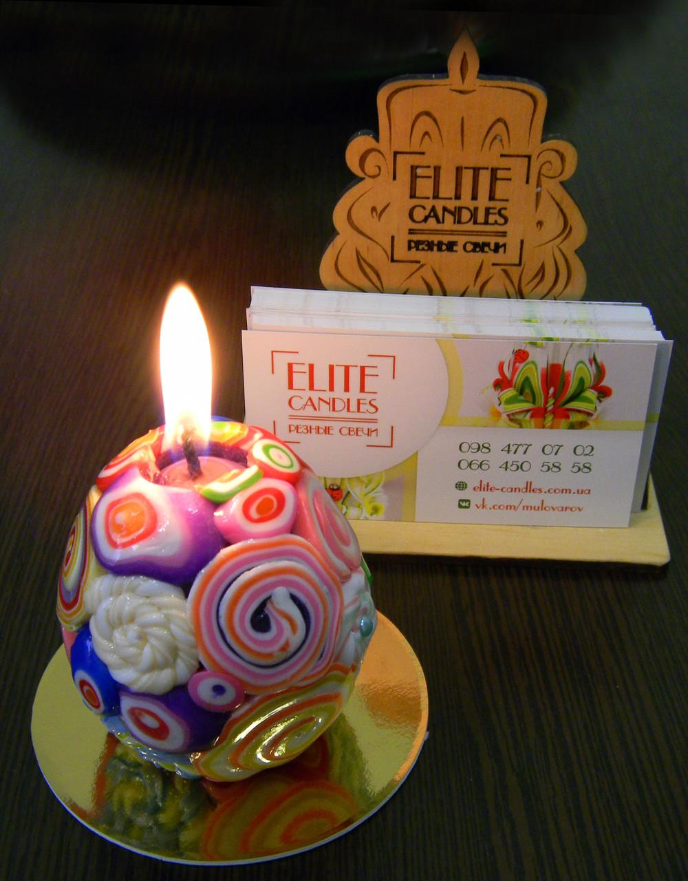 Стильный дизайн свечи, оригинальный не повротимый узор