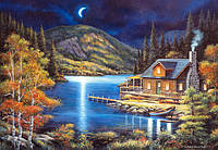 "Пазлы 1000 эл.. Castorland ""Moonlit Cabin"" (14)"