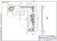 Проект благоустройства частного двора возле многоэтажки
