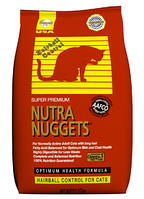 Nutra Nuggets Hairball Control (Хаербол) корм для кошек для выведения комочков шерсти, 18.14 кг