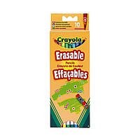 Набор Crayola цветные карандаши с резинкой, 10 шт. 3635 ТМ: Crayola