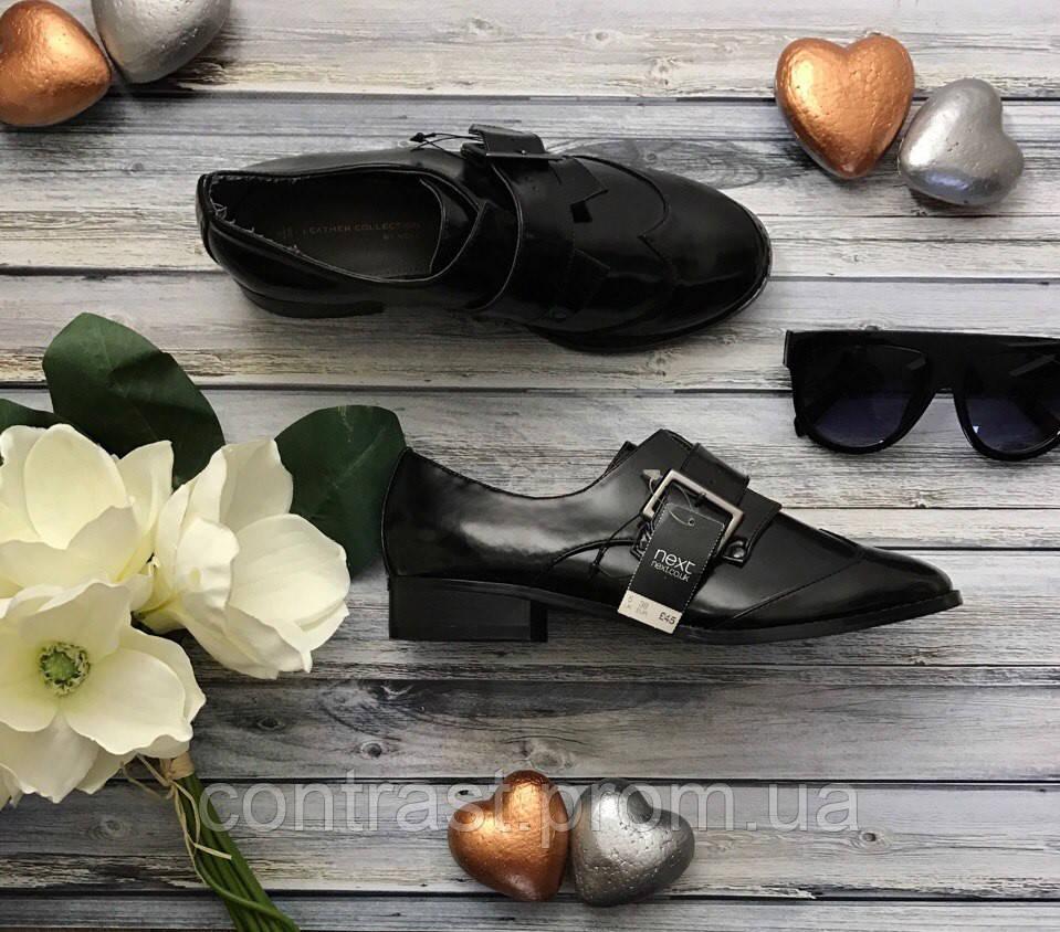Шикарные туфли-монки из лакированной эко-кожи с одинарной пряжкой  SH35018