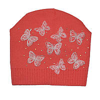 Детская демисезонная вязаная шапочка