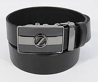 Кожаный ремень автомат мужской Zegna 8006-312 черный
