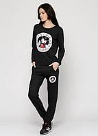 15335 Спортивный костюм черный S/M